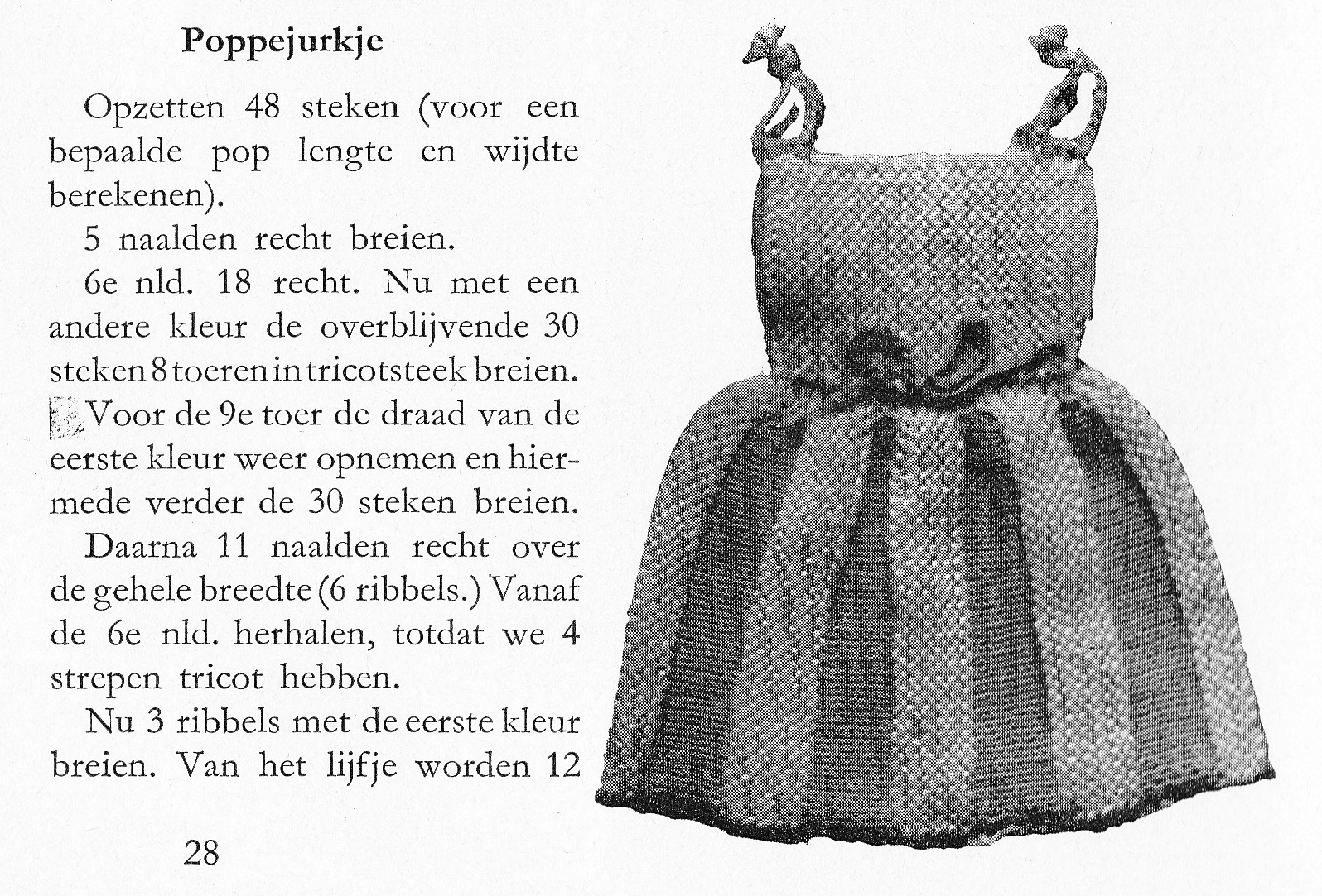 nuttige handwerken- doll's dress