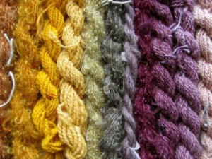 yarn dyed with edible plants