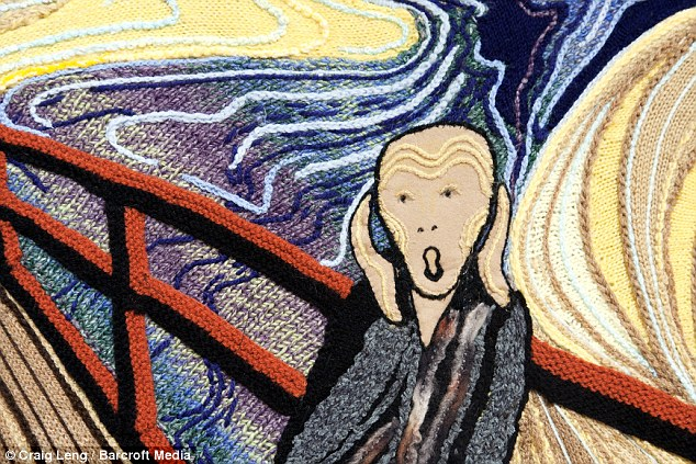 Edvard-Munch masterpiece paintings recreated by ladies knitting group